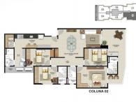 Coluna 02 - 4 quartos - 144,30m²