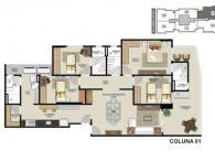 Coluna 01 - 4 Quartos - 144,30m²